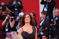 Het glimlachen van Maria Grazia Cucinotta Royalty-vrije Stock Afbeelding