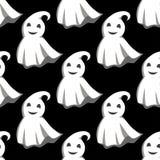 Het glimlachen van spoken in wit kaappatroon Stock Foto's