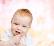 Het glimlachen van weinig baby Stock Foto