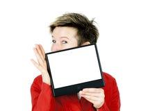 Het glimlachen vrouwen het voorstellen stock fotografie