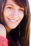 Het glimlachen vrouwenportret stock foto's