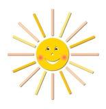 Het glimlachen zon vectorillustratie Stock Illustratie