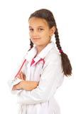 Het glimlachende meisje van de artsenstudent Royalty-vrije Stock Afbeeldingen