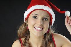Het Glimlachende meisje van Kerstmis Stock Foto