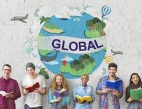Het globale Communautaire Concept Wereldwijd van de Klimaattemperatuur Stock Fotografie