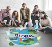 Het globale Communautaire Concept Wereldwijd van de Klimaattemperatuur Royalty-vrije Stock Afbeelding
