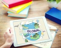 Het globale Communautaire Concept Wereldwijd van de Klimaattemperatuur Stock Afbeeldingen