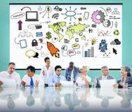 Het globale Communautaire Online Concept van het Startlanceringsgroepswerk Stock Foto