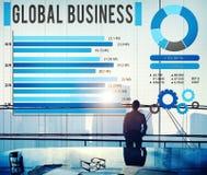 Het globale Concept van de Bedrijfs de Groei Collectieve Ontwikkeling Stock Afbeeldingen
