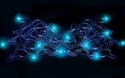 Het globale concept van de cyber futuristische financiële netwerkbeveiliging Stock Afbeelding