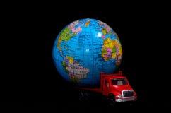 Het globale Concept van het Ladingsvervoer Stock Foto