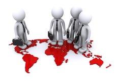 Het globale concept van het Team Vector Illustratie
