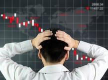 Het globale effectenbeurs dalen stock afbeelding