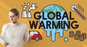 Het globale het Verwarmen Concept van de Klimaat Milieuindustrie stock afbeeldingen
