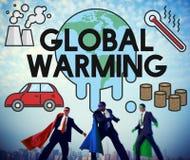 Het globale het Verwarmen Concept van de Klimaat Milieuindustrie royalty-vrije stock afbeelding