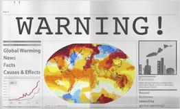 Het globale het Verwarmen Concept van het Verontreinigingsbroeikaseffect Royalty-vrije Stock Afbeelding
