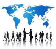 Het globale Internationale Concept van de Samenwerking tussen bedrijvensamenwerking Stock Foto