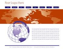 Het globale Ontwerp van de Web-pagina stock illustratie