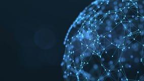 Het globale sociale concept van de netwerkverbinding royalty-vrije illustratie