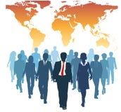 Het globale team personeels van het bedrijfsmensenwerk Stock Afbeelding