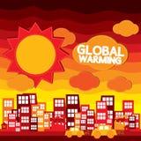 Het globale Verwarmen. stock illustratie