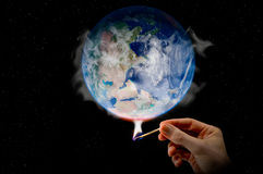 Het globale Verwarmen! Royalty-vrije Stock Foto's