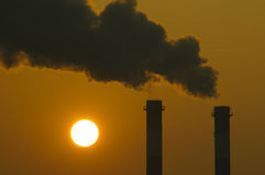 Het globale Verwarmen bij zonsondergang Stock Fotografie