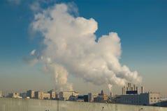 Het globale verwarmen. Cityscape. Royalty-vrije Stock Foto