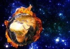 Het globale verwarmen Elementen van dit die beeld door NASA wordt geleverd Royalty-vrije Stock Afbeelding