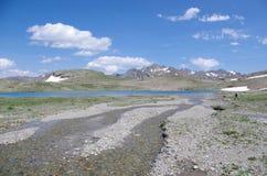 Het globale verwarmen en dooi van gletsjers Royalty-vrije Stock Foto's
