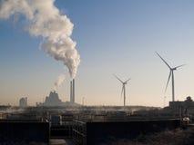 Het globale verwarmen - energie van het verleden en van fut stock afbeeldingen