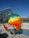 Het globale verwarmen - klimaatbol Stock Afbeeldingen