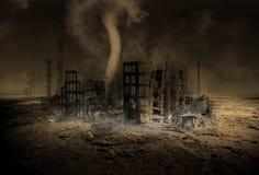 Het globale Verwarmen, Klimaatverandering, Apocalyps royalty-vrije illustratie