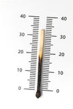 Het globale verwarmen - temperatuurconcept Stock Foto
