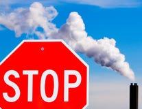 Het Globale Verwarmen van het einde stock afbeelding
