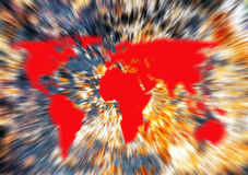 Het globale verwarmen, wereld op brand royalty-vrije illustratie