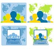 Het globale Voorzien van een netwerk van het Groepswerk royalty-vrije illustratie