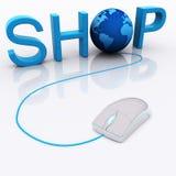 Het globale Winkelen Royalty-vrije Stock Afbeeldingen