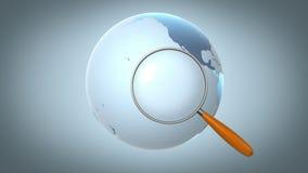 Het globale zoeken vector illustratie