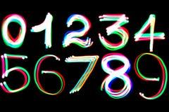 Het gloeien aantallen Stock Foto's
