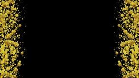 Het gloeien de gouden videoanimatie van cirkeldeeltjes stock illustratie