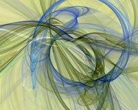 Het gloeien fractal ontwerp royalty-vrije illustratie
