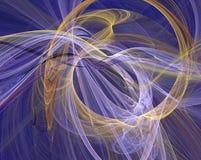Het gloeien fractal ontwerp stock illustratie