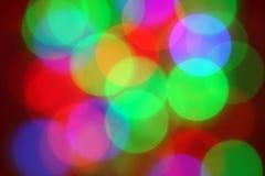 Het gloeien kleurenlichten Royalty-vrije Stock Fotografie