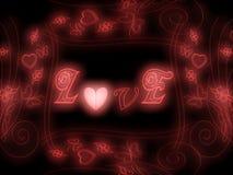 Het gloeien Liefde! Stock Foto's
