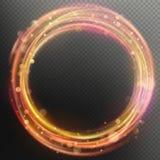 Het gloeien het magische van de de ringscirkel van de gloedbrand effect van de het spoorbekleding Eps 10 royalty-vrije illustratie