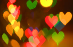Het gloeien multicolored lichten royalty-vrije stock afbeelding
