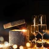Het gloeien nieuwe year& x27; s vooravondgelukwensen Royalty-vrije Stock Fotografie