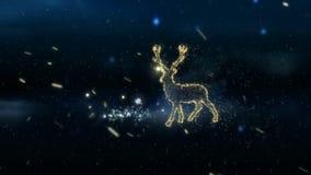 Het gloeien het ontwerp van het Kerstmisrendier in de sneeuw