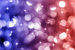 Het gloeien rode en blauwe vakantielichten Royalty-vrije Stock Afbeelding
